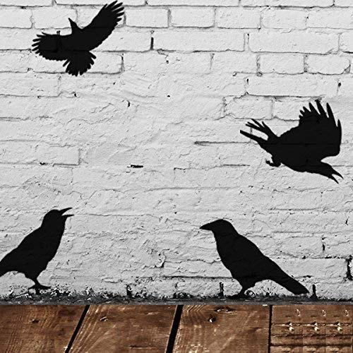Krähe Vögel Schablone Halloween Stil Dekor & Basteln Schablone Malen & Gestalte Zeichen,Wände, Stoffe, Möbel wiederverwendbar ... - Small - See Images