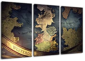 """World of Warcraft la peinture sur toile, 3 pièce (Total Taille: 120x80 cm"""") énormes Photos complètement encadrée avec civière, Art imprimer l'image de la paroi avec cadre"""
