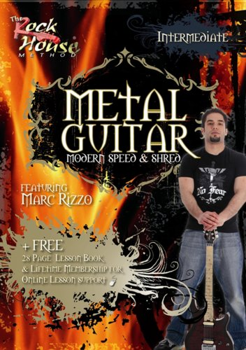 THE ROCK HOUSE METHOD   METAL GUITAR: INTERMEDIATE REINO UNIDO DVD