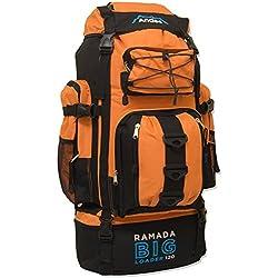 Andes Ramada - Extra großer Treckingrucksack - Leuchtend Orange - 120 l