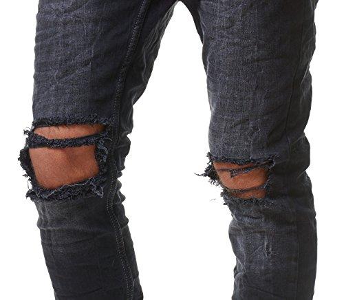 redbridge herren jeans hose denim slim fit destroyed. Black Bedroom Furniture Sets. Home Design Ideas