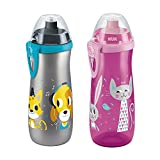 NUK First Choice Active Sports Cup mit Clip, 450ml, Farbig Sortiert