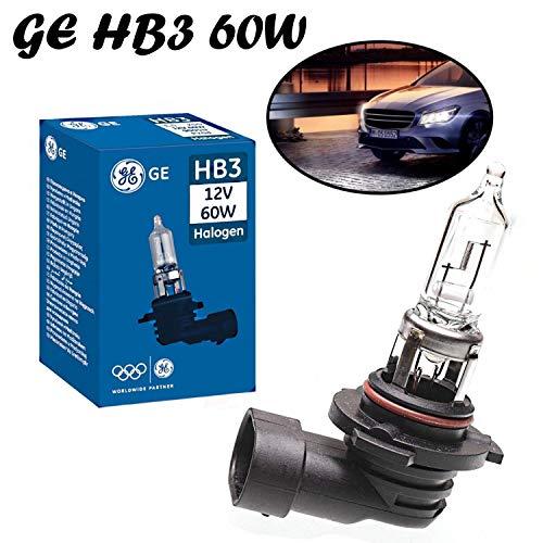 1x General Electric GE HB3 60W 12V P20d 53060U Original High Tech langlebig Weiß White Ersatz Scheinwerfer Halogen Auto Lampe - E-geprüft