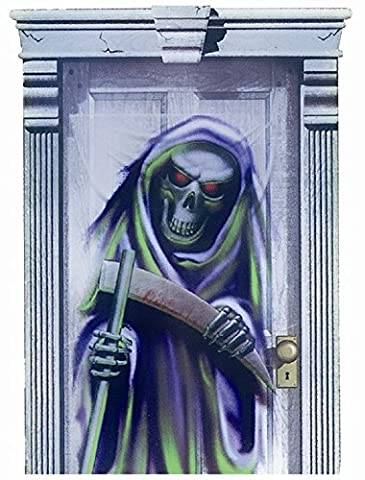 Halloween - Spooky Full Size Door Cover - DEATH - Ideal for spooky trick or treat parties