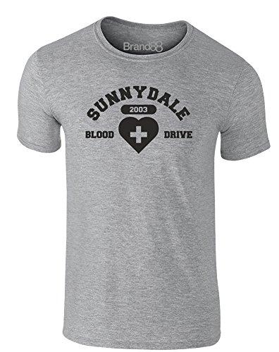 Brand88 - Blood Drive, Erwachsene Gedrucktes T-Shirt Grau/Schwarz