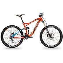 Bicicleta de enduro doble suspensión 27,5 pulgadas HEAD DOWNEY I naranja mate/azul