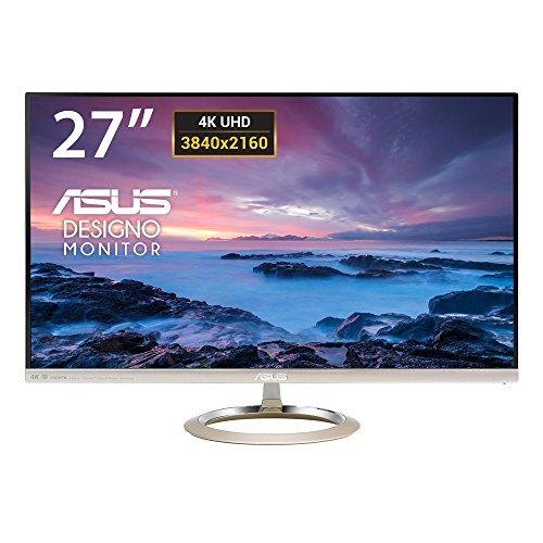 ASUS Designo MX27UC 27'' Monitor, 4K (3840 x 2160), IPS, 100% sRGB, B&O ICEpower Altoparlanti, USB Type-C, Flicker Free, Filtro Luce Blu, Certificazione TUV