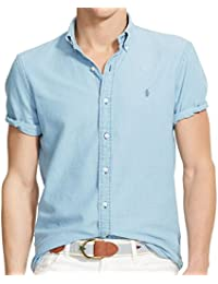 Polo Ralph Lauren - Homme - Short-Sleeved Oxford Shirt Chemise Casual - Manche Courte