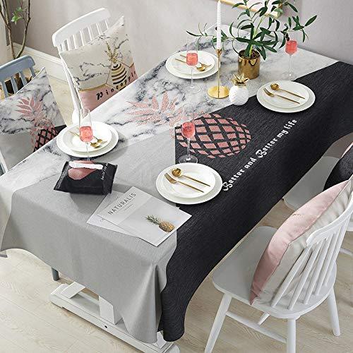 QERTYU Baumwolle Und Leinen Dicke Tischdecke Kaffeetischdecke Handtuch Wasserdicht Und Ölbeständig Tischdecke 140X220Cm