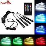MotoPanda 4 In1 Atmosphere Music Control 9 Led Foot Strip Light Car Interior Decorative Light for all Car and SUV