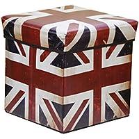 Preisvergleich für Folding Storage Seat Bench- 27 Liter Faltbarer Leder-Aufbewahrungshocker Mehrzweck-PU Aufbewahrungsbox mit Deckel 30cm × 30cm × 30cm Home Decor (Farbe : B)