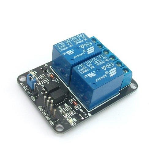 SainSmart 2-CH 5V 2 Kanäle Relais Modul-Brett für Arduino PIC AVR DSP MCU Relais Modul (100 Pics Ca)