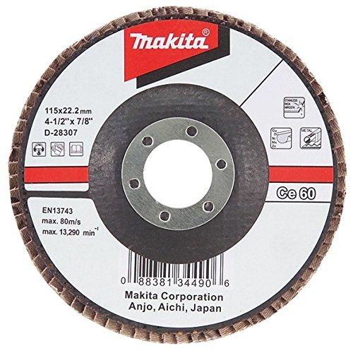 Makita D-28313 - 115 disco lamellare curvato grano ceramica 80 alluminio corpo in fibra di vetro