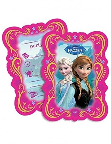 en Invitation Cards (Elsa Birthday Party Supplies)
