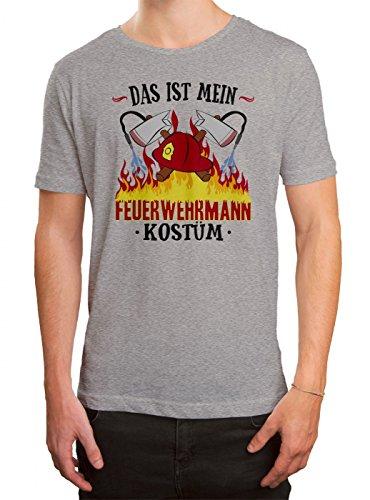 n Premium T-Shirt | Verkleidung | Karneval | Fasching | Herren | Shirt, Farbe:Graumeliert (Grey Melange L190);Größe:5XL (Günstige Feuerwehrmann Kostüm Ideen)