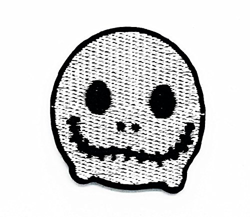 rabana Skull Devil Halloween Cartoon Kids Kinder Cute Animal Patch für Heimwerker-Applikation Eisen auf Patch T Shirt Patch Sew Iron on gesticktes Badge Schild (Film Halloween Kostüme Old School)
