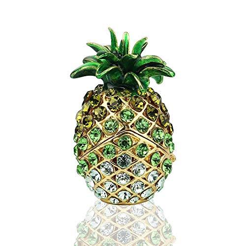 huashangbaihuodian Ananas Scharnier Schmuckschachtel für Geschenke Handbemalte Muster Schmuckschachtel Bejeweled Sammlerstück -