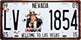 Welcome to Las Vegas, Embossed Metal Tin Sign, Wall Decorative Sign by 66Retro