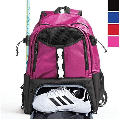 Athletico Jugend Lacrosse Bag - Extra großer Lacrosse Rucksack - für alle Lacrosse oder Feldhockey-Ausrüstung - Zwei Stockhalter und Separates Steckfach, Rose