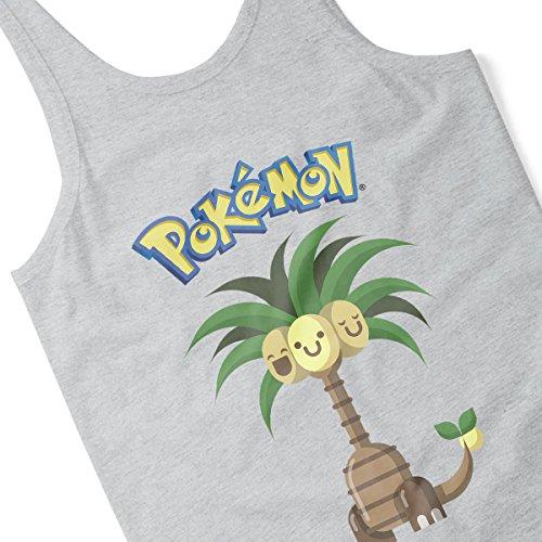 Alola Exeggutor Pokemon Sun Moon Women's Vest Heather Grey