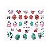 Descrizione  Pasqua è molto divertente da giocare con colori pastello, coniglietti e pulcini carini e, naturalmente, disegni di uova di Pasqua! Si tratta di un foglio di bellissime decalcomanie adesive per unghie Progettate con modelli 3D uni...