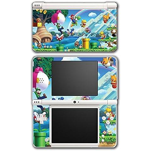 New Super Mario Bros 2 3D Land World Luigi Goomba Video Game Vinyl Decal Skin Sticker Cover for Nintendo DSi XL System by Vinyl Skin