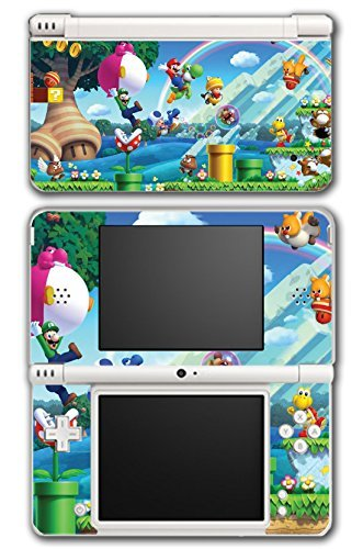 New Super Mario Bros 2 3D Land World Luigi Goomba Video Game Vinyl Decal Skin Sticker Cover for Nintendo DSi XL System by Vinyl Skin Designs (Mario 3d Land Für Nintendo Ds)