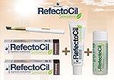 Refectocil Sensitive SET Augenbrauen/Wimpernfarbe 2 x dunkelbraun - Entwickler &...