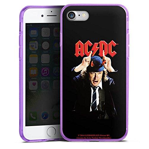 Apple iPhone 8 Silikon Hülle Case Schutzhülle ACDC Merchandise Fanartikel Riverplate Silikon Colour Case lila