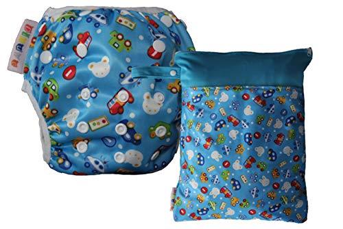 Dinuve Pack Pañal bañador para bebé niño de 0 a 3 años Reutilizable con Bolsa Impermeable a Juego...