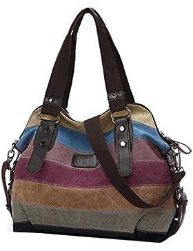 Damen handtaschen, Coofit Canvas Schultertasche Shopper Umhängetasche
