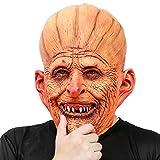 CreepyParty Festa in Costume di Halloween Maschera in Lattice a Testa Zucca Umana