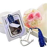 Apribottiglie colore argento Bomboniera utile tema mare nautica Matrimonio confezione scatola