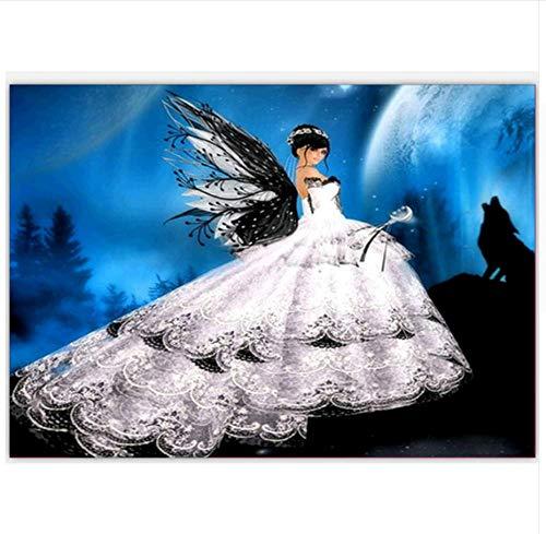 5D Diamant Malerei Kreuzstich Flügel Engel DIY Diamant Mosaik Voller Runder Diamant Stickerei Wohnkultur Hand Geschenk Zeichnung, 30X40cm -