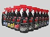 Autoreiniger Autopflege Mega-Set 12, Felgen, Wachs, Kunststoff, Leder,Glas, Reifen, Motor, Polster Reiniger, Shampoo, Cockpit Zitrone ,Vanille, Insekten