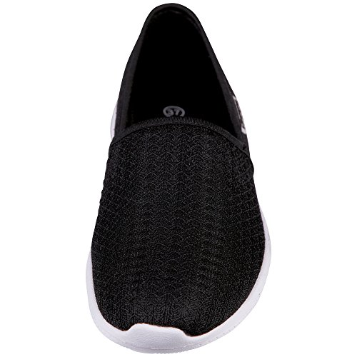 Kappa Cosy, Baskets Basses Femme Noir (Black/white)