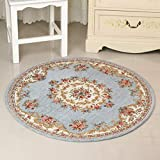 SLH Grau-Blaue einfache nordische runde Teppich europäischen runde Teppich Schlafzimmer Decke Stuhl Kissen Wohnzimmer schaukelstuhl Kissen (Size : XL)