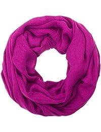 style3 Damen und Herren Loop Schal in klassischen Uni-Farben
