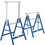 TecTake 2x Cavalletto da lavoro telescopico altezza regolabile 81 - 130 cm