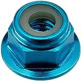 Tamiya 300053159 - Alu Stoppmutter Blau eloxiert (5), 4 mm