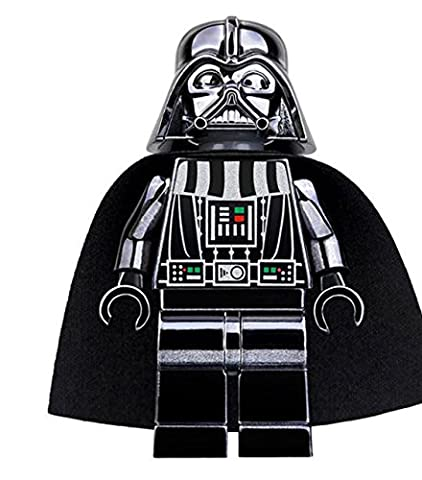 Chrome Darth Vader mini figure building blocks compatible, star wars collectible figure anakin skywalker (1 Anakin Skywalker Action-figur)