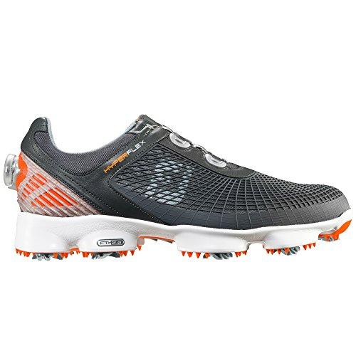 footjoy boa Footjoy Hyperflex Golf Schuhe Anthrazit/Orange boa Armatur, Herren, grau, 43