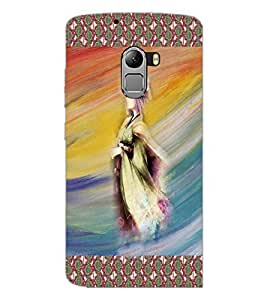 PrintDhaba Animated Girl Sketch D-3580 Back Case Cover for LENOVO K4 NOTE A7010 (Multi-Coloured)