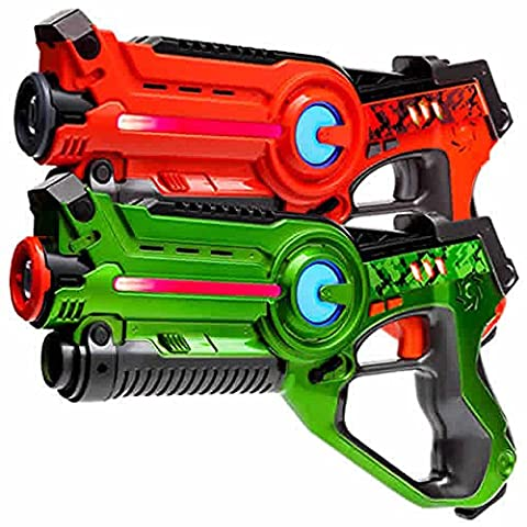 2 Light Battle Active pistolets infrarouge orange et verts - LBAP10212