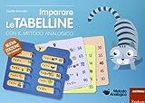 ERICKSON IMPARARE TABELLINE C/METODO ANALOGI 978885900424-0 IMPARARE LE TABELLINE CON IL METODO ANALOGICO