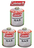 3 Pezzi - BOMBOLETTA Cartuccia A Gas Coleman C500 Performance A Filetto con 440 GR di Gas