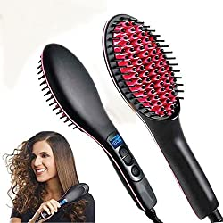 Free Offer Buy and Get 1 Pc C.A.L Los Angles Lipstick Worth Rs 349 MSE Simply Beautifull Look Straight Premium Ceramic Straightening Brush Curler & Styler Hair Straightner