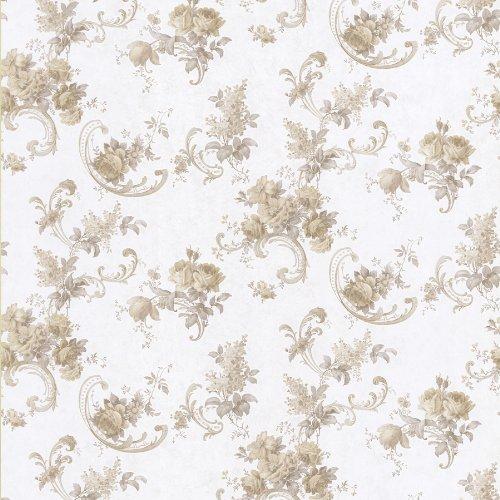 BHF 986-56002sanquia Scroll Tapete-Taupe Rose - Rose Scroll