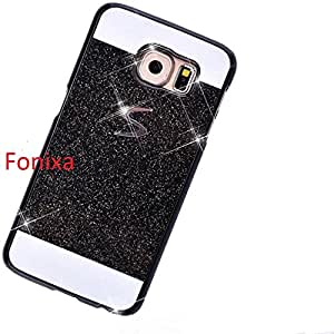 Bling Sparkling hard case perfect Fit Glitter back cover for Samsung Galaxy S6 Edge Plus Black