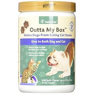 NaturVet Outta My Box Cat Stool Deterrant for Dogs and Cats (500 Soft Chews) NaturVet Outta My Box Cat Stool Deterrant for Dogs and Cats (500 Soft Chews) 51VIR2e 2B4vL
